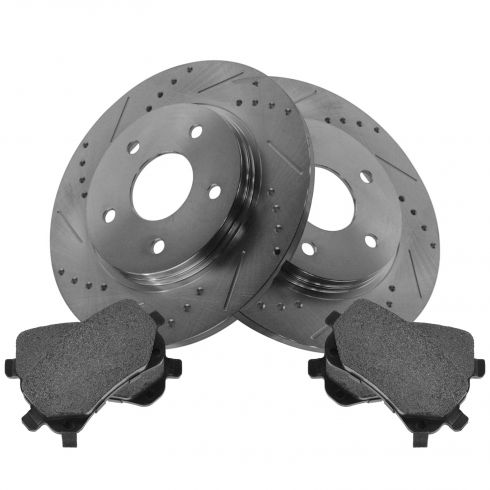Rear Performance Rotor & Posi Metallic Pad Kit 08-12 Caravan, 09-13 Journey