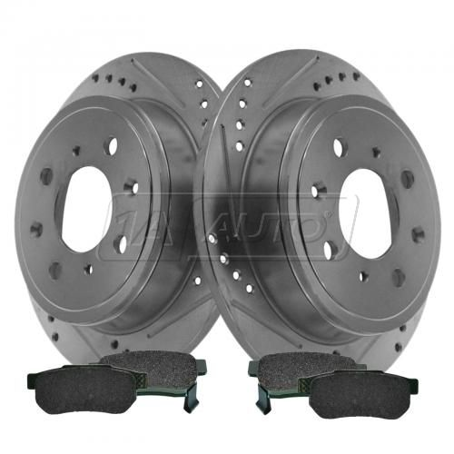 Rear Performance Rotor & Posi Ceramic Pad Kit 94-01 Integra, Civic