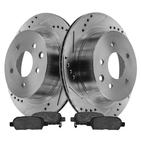 Rear Performance Rotor & Posi Metallic Pad Kit 03-05 Nissan 350Z