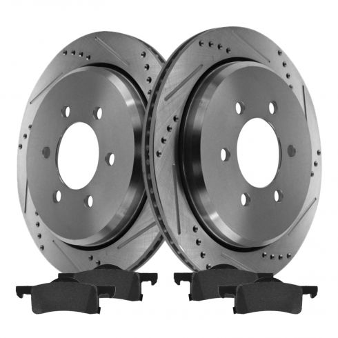 Rear Performance Rotor & Posi Ceramic Pad Kit 02-06 Expedition, Navigator