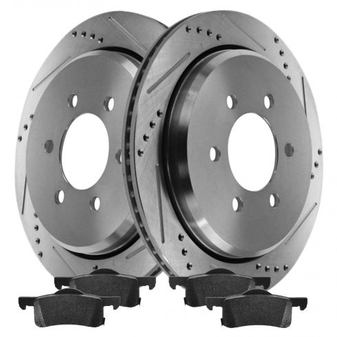 Rear Performance Rotor & Posi Metallic Pad Kit 02-06 Expedition, Navigator
