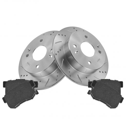 Rear Performance Rotor & Posi Ceramic Pad Kit 98-99 CL, 98-02 Accord