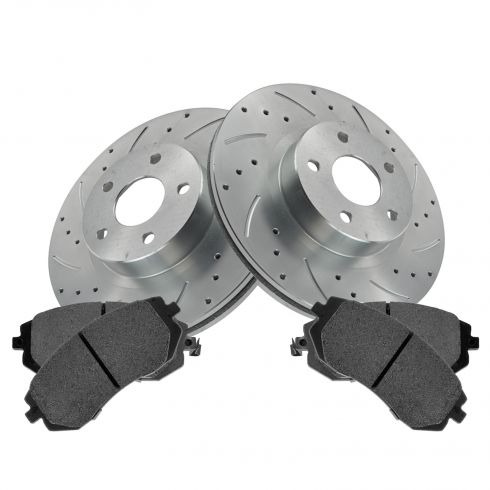 Front Performance Rotor & Posi Ceramic Pad Kit 05-06 9-2X; 02-11 Impreza