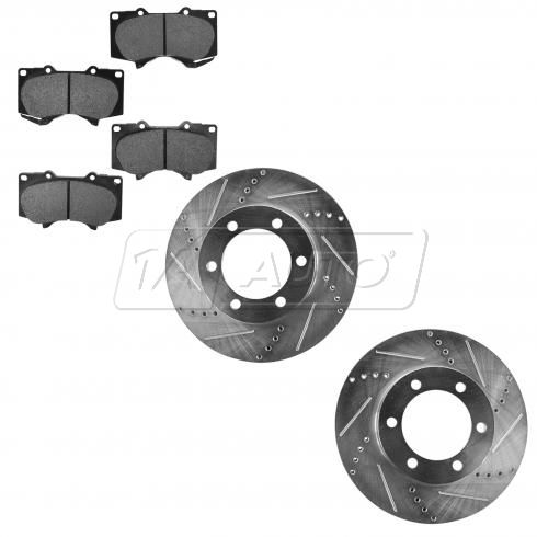 Front Performance Rotor & Posi Metallic Pad Kit 03-07 Sequoia; 00-06 Tundra