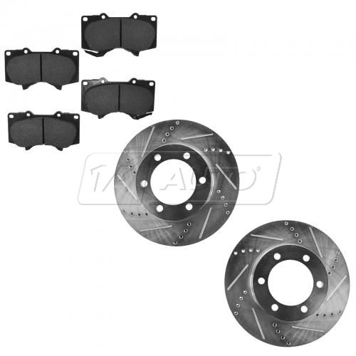 Front Performance Rotor & Posi Ceramic Pad Kit 03-07 Sequoia; 00-06 Tundra