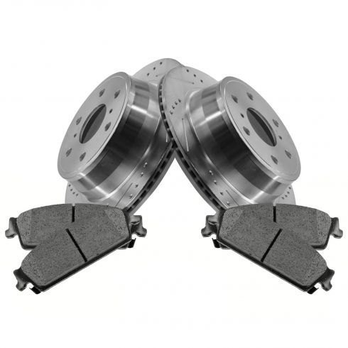 Rear Performance Rotor & Posi Metallic Pad Kit 07-13 Escalade, Silverado