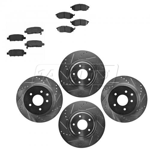 Front & Rear Performance Rotor & Posi Ceramic Pad Kit 06-12 Nissan 350Z, 370Z