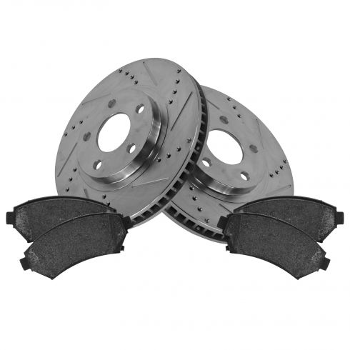 Front Performance Rotor & Posi Metallic Pad Kit 00-05 Impala