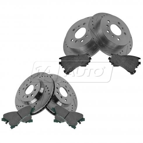 Front & Rear Performance Rotor & Posi Ceramic Pad Kit 06-10 Impala Lucerne Monte