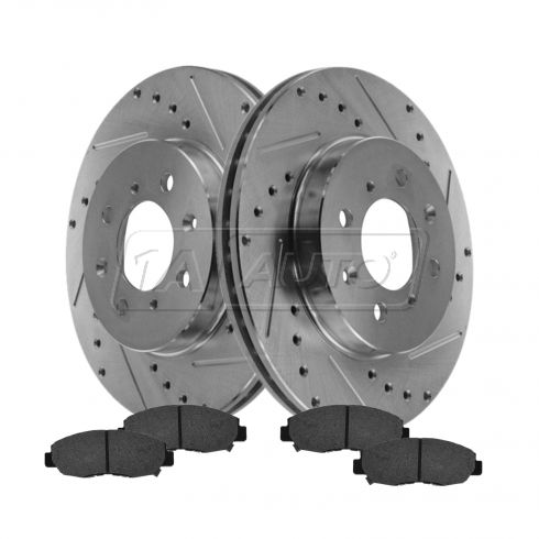Front Performance Rotor & Posi Metallic Pad Kit 96-05 Civic
