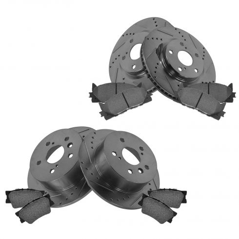 Front & Rear Performance Rotor & Posi Metallic Pad Kit 07-11 Camry; 07-13 Lexus