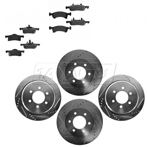 Front & Rear Performance Rotor & Posi Metallic Pad Kit 02-06Expedition Navigator