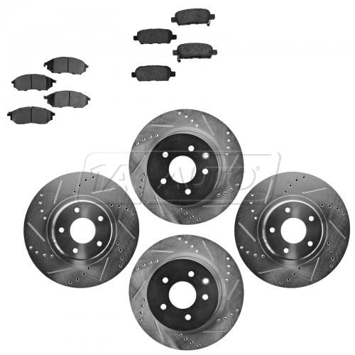 Front & Rear Performance Rotor & Posi Metallic Pad Kit 06-12 Nissan 350Z, 370Z