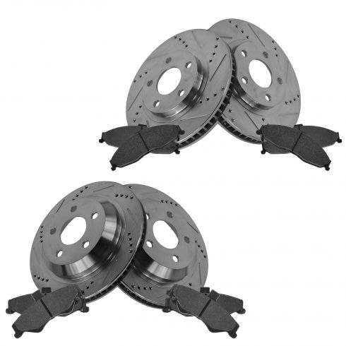 Front & Rear Performance Rotor & Posi Metallic Pad Kit 98-02 Camaro, Firebird