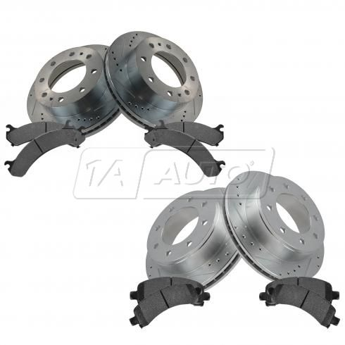 Front & Rear Performance Rotor & Posi Metallic Pad Kit 03-14 Express Savana 2500, 3500