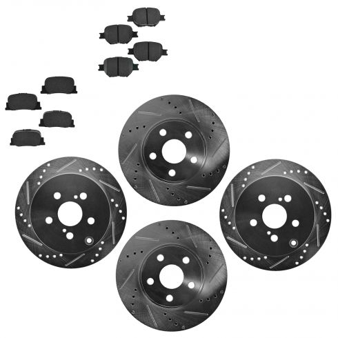 Front & Rear Performance Rotor & Posi Ceramic Pad Kit 05-10 tC