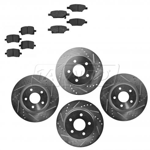 Front & Rear Performance Rotor & Posi Metallic Pad Kit 08-11 Malibu; 08-10 G5; 07-09 Aura