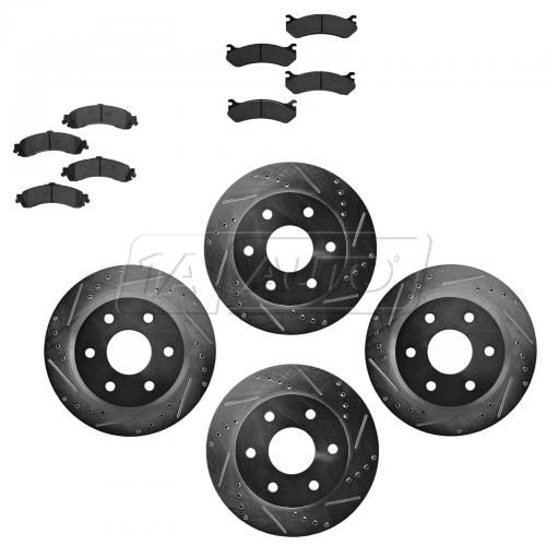Front & Rear Performance Rotor & Posi Metallic Pad Kit 99-09 Chevy Truck/SUV