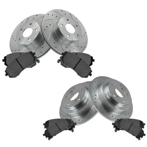 Front & Rear Performance Rotor & Posi Metallic Pad Kit 03-05 WRX Forester