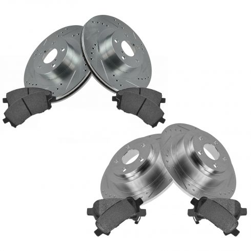 Front & Rear Performance Rotor & Posi Metallic Pad Kit 01 Outback