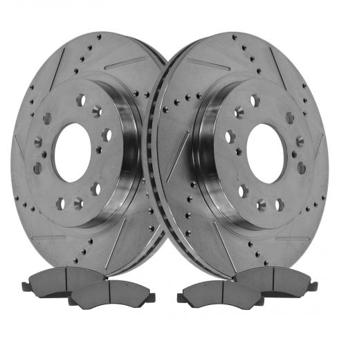 Front Performance Rotor & Metallic Pad Kit 05-09 Chevy Truck/SUV