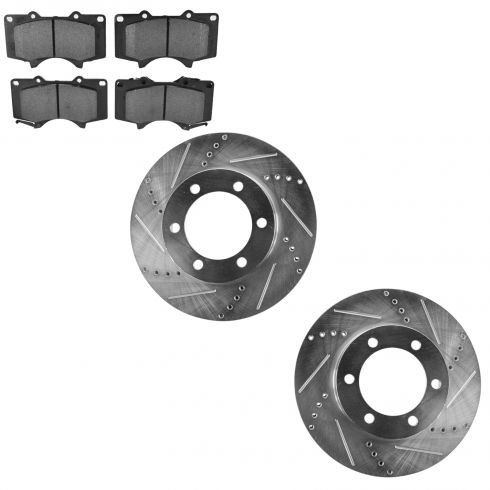 Front Performance Rotor & Metallic Pad Kit 03-07 Sequoia; 00-06 Tundra