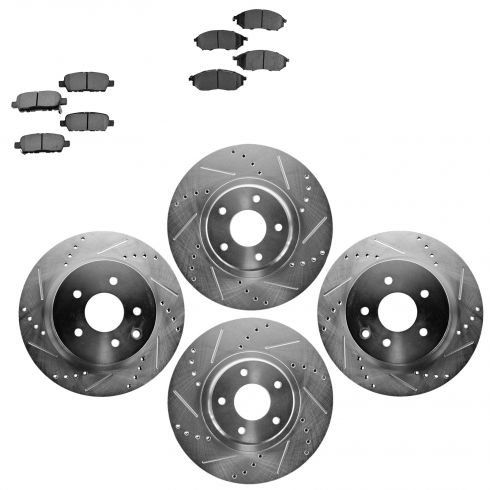 Front & Rear Performance Rotor & Metallic Pad Kit 06-12 Nissan 350Z, 370Z