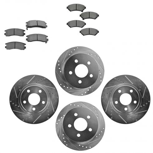 Front & Rear Performance Rotor & Metallic Pad Kit 00-05 Impala