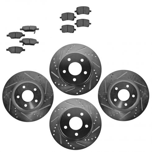 Front & Rear Performance Rotor & Ceramic Pad Kit 08-11 Malibu; 08-10 G5; 07-09 A