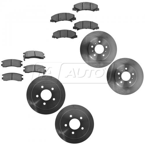 06-10 Chevy Impala 3.9L; 06-07 Monte Carlo Front & Rear Metallic Brake Pad & Rotor Kit