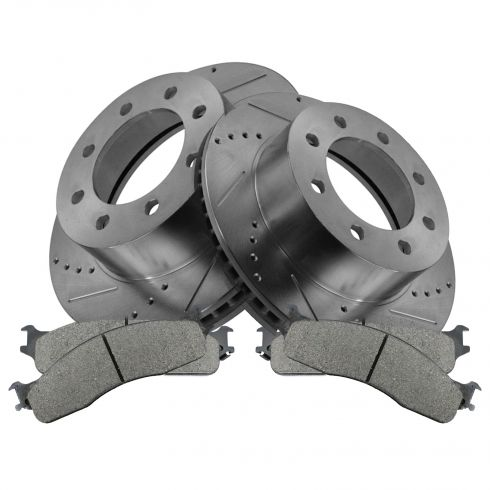 06-08 Dodge Ram 1500; 03-08 Ram 2500, 3500 Front Performance Brake Rotor & Ceramic Pad Set