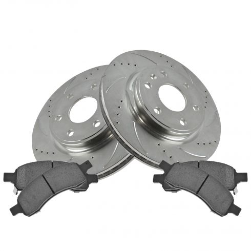 08-12 Enclave, Traverse, Acadia Front Performance Brake Rotor & Ceramic Pad Set
