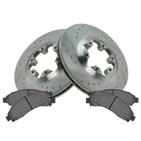 04-08 Colorado, Canyon Front Performance Brake Rotor & Ceramic Pad Set