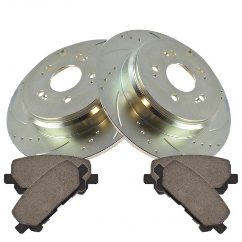 07-12 MDX 10-12 ZDX 09-12 Pilot Rear Performance Rotor & Ceramic Pad Set