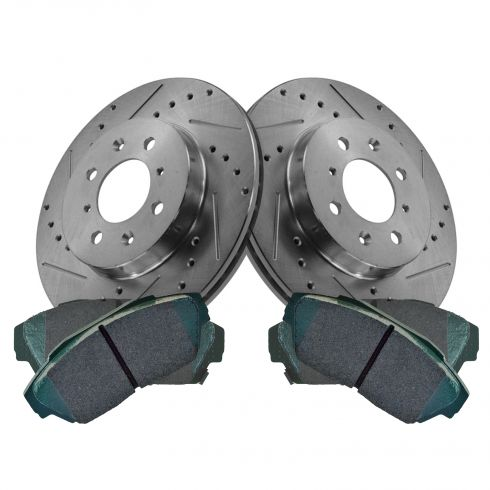 90-93 Acura Integra; 90-93 Honda Civic Performance Disc Brake Rotor & Premium Posi Ceramic Pads