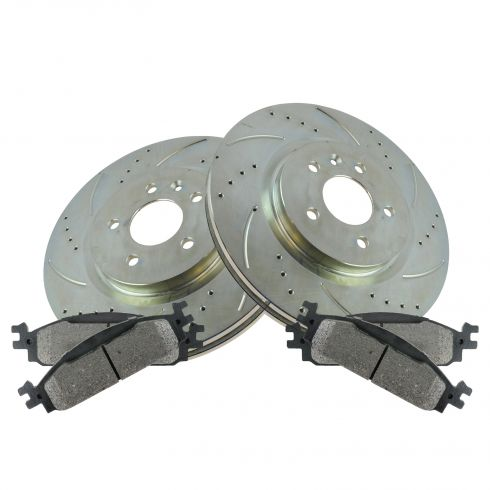 10-11 Flex, MKS Front Performance Brake Rotor & Metallic Pad Set