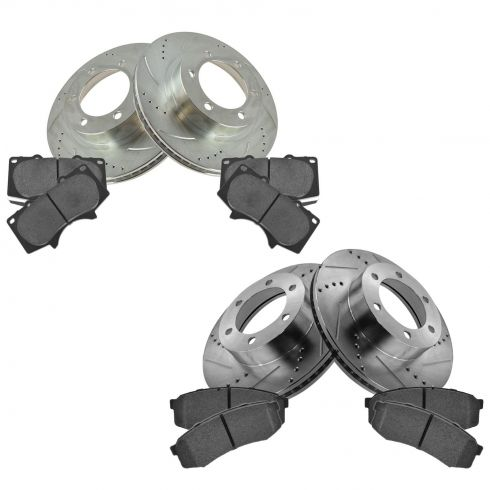 01-07 Sequoia Front & Rear Performance Brake Rotor & Posi Ceramic Pad Kit
