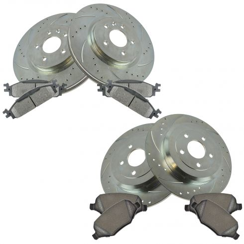 10-11 Flex, MKS Front & Rear Performance Brake Rotor & MEtallic Pad Kit