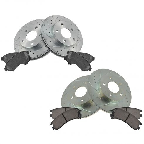 00-05 Lesabre; 00-05 Bonneville Front & Rear Performance Brake Rotor & Ceramic Pad Set
