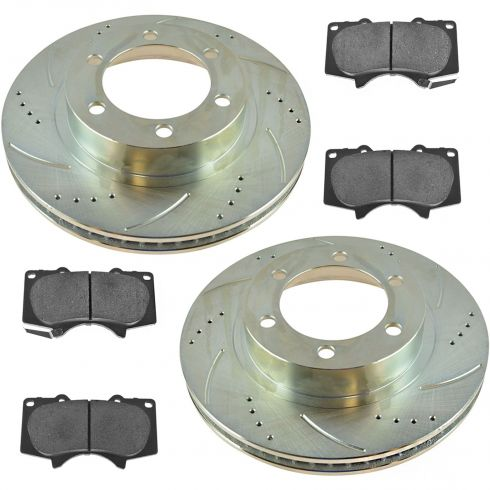 03-09 4Runner; 7-14 FJ; 05-14 Tacoma Front Performance Brake Rotor & Ceramic Pad Kit