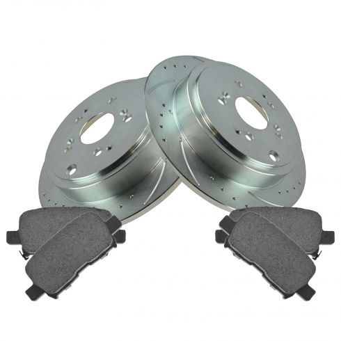 03-06 MDX Rear Performance Brake Rotor & Ceramic Pad Kit