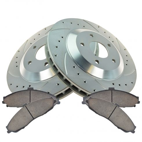 97-04 Corvette Front Performance Brake Rotor & Ceramic Pad Kit