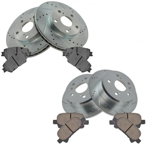 02-06 Camry Front & Rear Preformance Brake Rotor & Ceramic Pad Kit