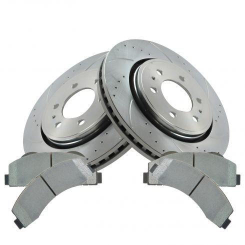 11-14 Ford Expedition; 10-14 F150 Front Performance Rotor & Posi Semi Metallic Brake Pad Set