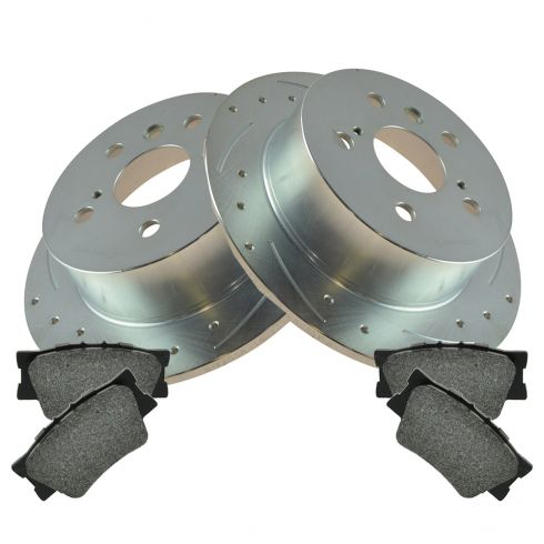 12-14 Toyota Camry; Avalon; ES300H; ES350 Rear Performance Brake Rotor & Posi Metallic Pad Kit