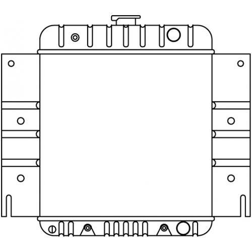 1970-71 Dodge Van Full Size Radiator w/ L6 3.2 198 w/o AC