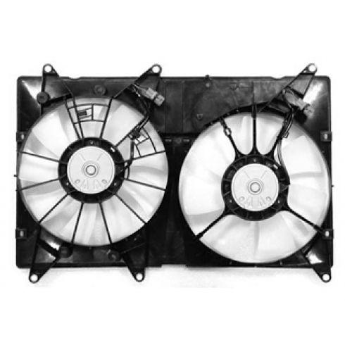01-03 Toyota Highlander Lexus RX Dual Radiator Fan