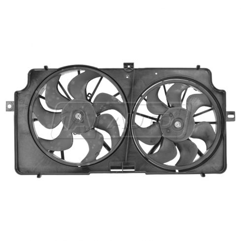 99-02 Oldsmobile Intrigue 3.5L Radiator Dual Cooling Fan Assy