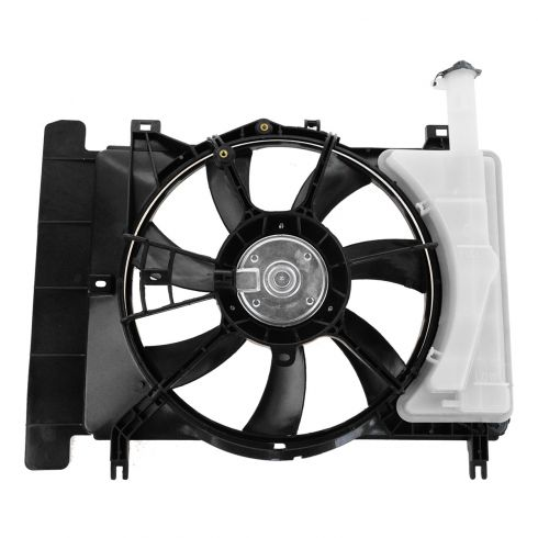 06-10 Toyota Yaris Radiator Cooling Fan Assy (includes Radiator Overflow Bottle)