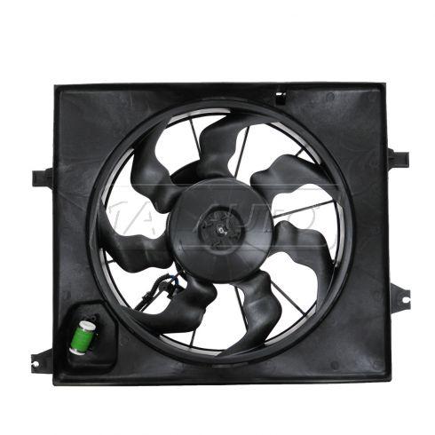 10-11 Kia Soul w/1.6L & AC Radiator Cooling Fan Assy
